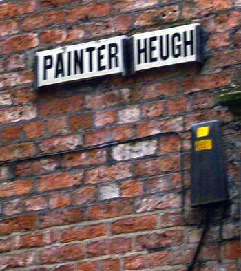 Street name sign Painter Heugh Newcastle