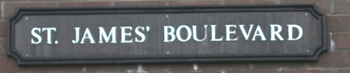 St James' Boulevard Newcastle street name sign