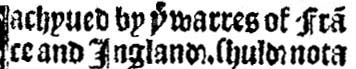 ye for article the 1523: ye warres